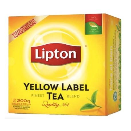 Te Lipton Yellow Label 100 bolsitas